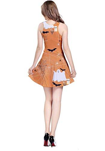 CowCow - Robe - Femme Orange Bats Orange Ghost