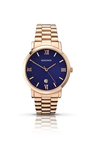 sekonda-mens-quartz-watch-with-blue-dial-analogue-display-and-gold-stainless-steel-bracelet-109027