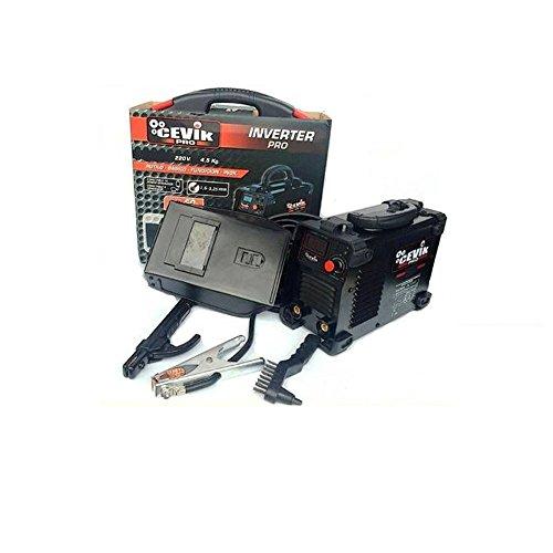 Cevik CE-PRO175 - Equipo de Soldadura 140 A. 60_% Electrodos de 1,6 - 3,25 mm. Con accesorios. Válido para Generador