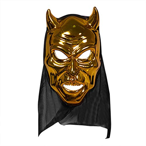 Foroner Halloween Rinder Magie Horror Maske Cosplay Bar Performance-Thema-Party (Gold) (Raum Themen Kostüm Party)