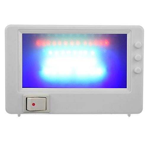 LED TV Simulator Fernseh Attrappe Dummy Einbruchschutz Fernsehsimulator Fake Imitation Kompakt Steckdose weiß