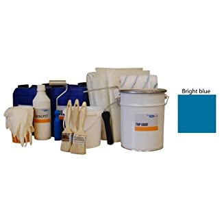 5sqm fibreglass pond kit - bright blue topcoat, lloyds resin, fibreglass matting & application tools 5sqm Fibreglass Pond Kit – Bright blue topcoat, lloyds resin, fibreglass matting & application tools 41Hfz4v591L
