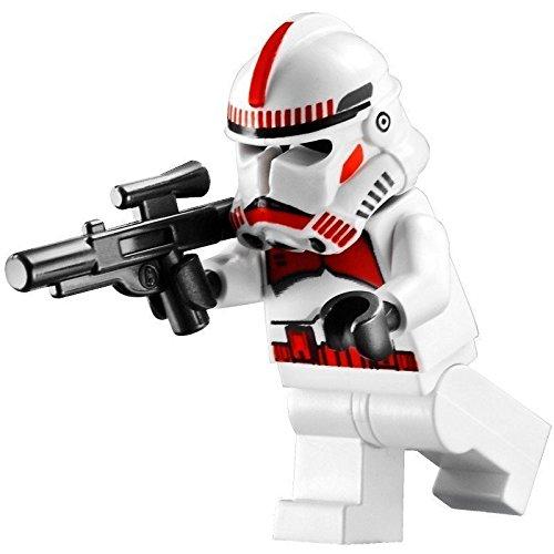 ifigur Clone Trooper / Shock Trooper Episode 3 mit Sturmgewehr - rote Markierungen auf Helm und Oberkörper ()