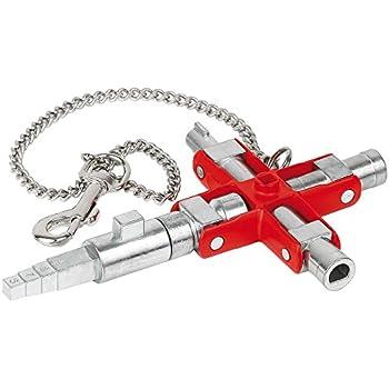 KNIPEX 00 11 06 V01 Clé universelle «Construction» pour toutes les armoires et systèmes de fermeture standards 90 mm