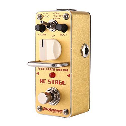 Aroma AAS-3 AC Bühne Akustikgitarre Simulator Mini Einzel E-Gitarren-Effekt-Pedal mit True Bypass Gitarrenzubehör
