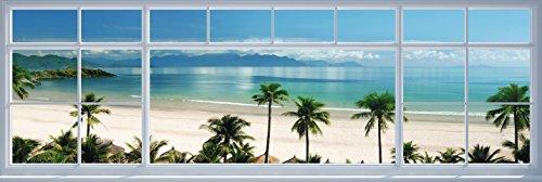 (REINDERS Aussicht Strand Fenster - Poster 158 x 53 cm)