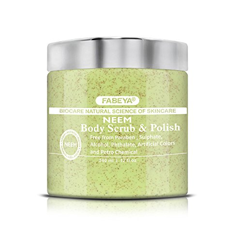 FABEYA BioCare Natural Neem Body Scrub and Polish - No Parabens and Sulphates - 340 ml Pack of 1