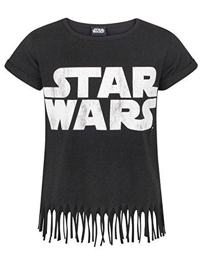 Star Wars Logo Girl's Fringe Top (9-10 Years) (Mädchen Aus Star Wars)