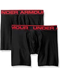 "Under Armour Men\'s Original Series 6"" Boxerjock 2 PK, Ropa interior para hombre, Varios colores (Black), M"