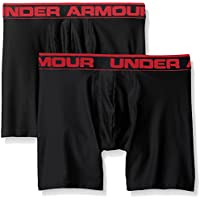 "Under Armour Men's Original Series 6"" Boxerjock 2 PK, Ropa interior para hombre, Varios colores (Black), M"