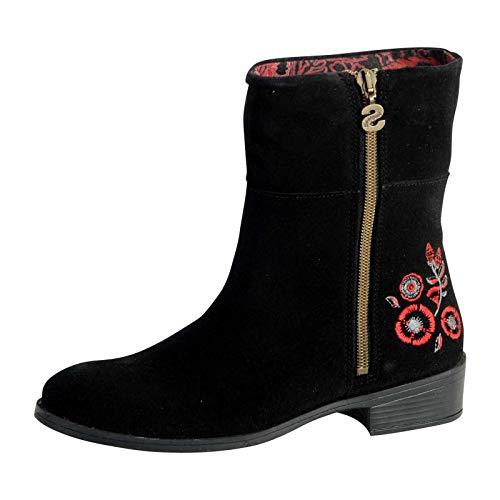 Desigual Stivaletti Donna Shoes Neoboho Foulard 18WSAL12 40 Nero