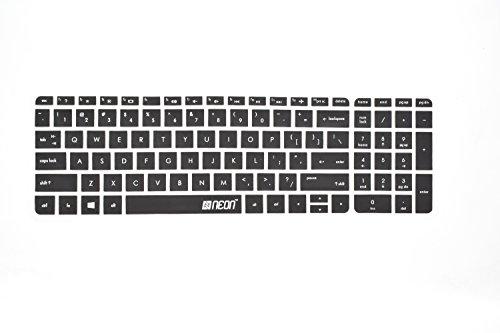 Neon Keyboard skin for HP Pavilion 15-AC***TX/TU, 15-AB***TX/TU, 15-AF***AX/AU 15-AB219TX 15-AB032TX 15-AC101TU 15-AF103AX 15.6-inch Laptop (Black)