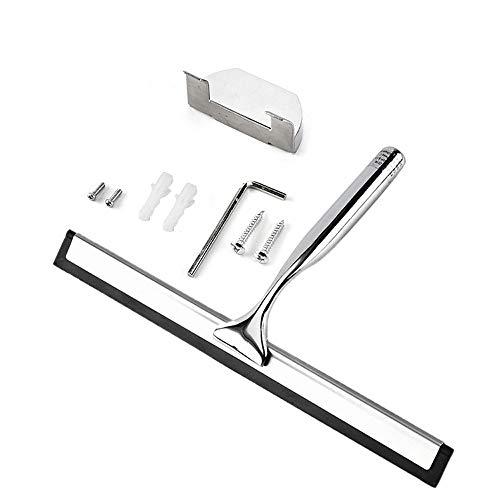 CHshe Edelstahl Reinigungsbürste Einseitiger Glaswischer Ergonomic Wischerreiniger Rakel Dusche Bad Spiegelbürste Fur Fensterglas 26 * 14 * 2.5Cm - 26 Bad