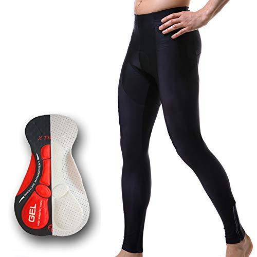 OLEEKA Anti-Schweiß-Radsporthose Pro Radsport-Trägerhose mit 5D Gel Pad für MTB Bike Mountian Tight Pants Whole Black