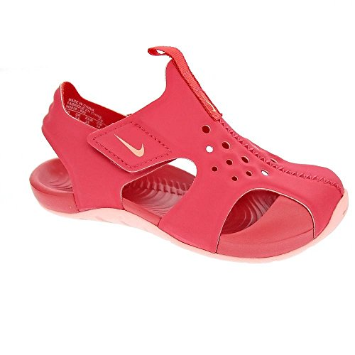 Nike Sandalias Sunray Protect 2 (PS) Rosa/Rosa/Coral Talla: 28