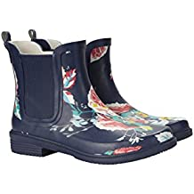 Mountain Warehouse Ankle Mud Womens Wellies - EVA Footbed, Waterproof Rain Shoes, Soft Wool Lining, Easy To Clean, Flexible Fit Ladies Wellington Boots - For Walking