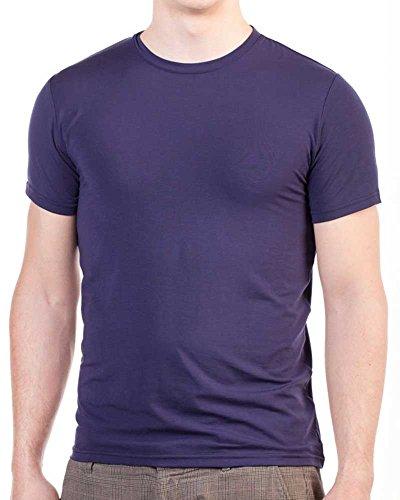 SENSISKIN® Herren U-Shirt aus TENCEL® Lila
