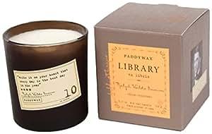 Paddywax Candles Bibliothèque Collection Léon Tolstoï en cire de soja, 184,3gram (Noir Prune, Kaki, mousse de chêne)