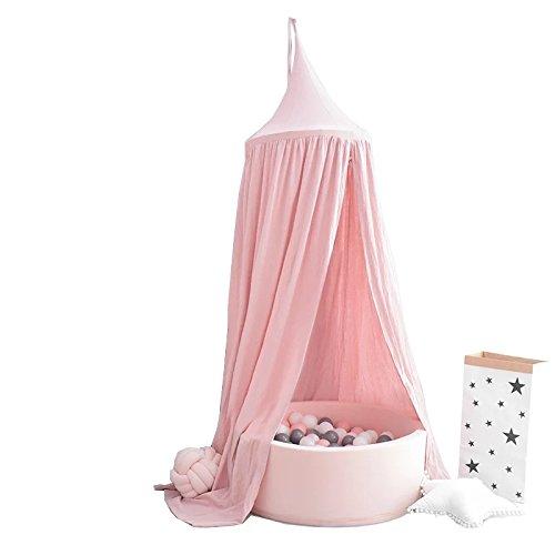 Little dove Betthimmel für Kinder/Babys, Baumwolle, Moskitonetz zum Aufhängen, Vorhang, Spiel- und Lesezelt für innen und außen, Bett-/Schlafzimmerdekoration, Insektenschutz, Höhe 240 cm (pink)