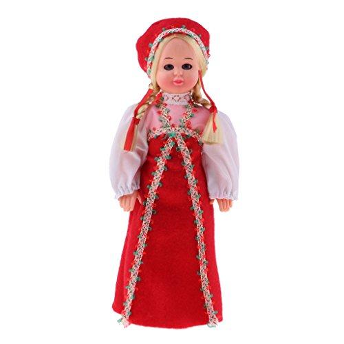 Homyl Handgefertigt International Ethnische Minipuppen, Kostüme Mädchen Puppen, Tourist Souvenirs Geschenk - Russische (Tourist Kostüm Mädchen)