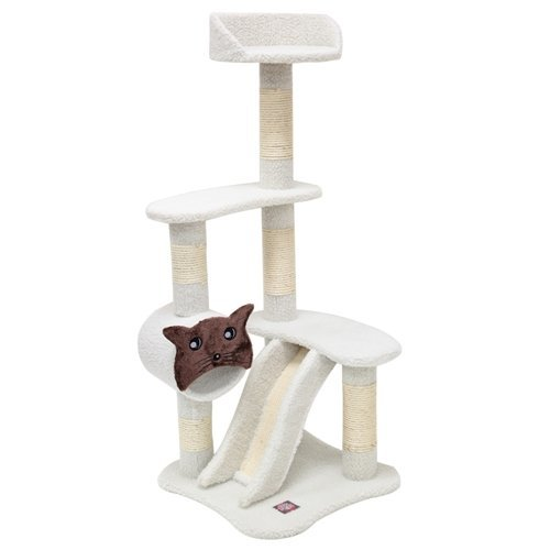 Majestic Pet Products 120,7 cm creme Bungalow Cat Möbel-Apartment House Kratzbaum Multi Level Pet Aktivität Baum