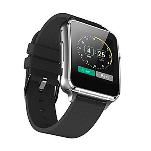 PDFGO M88 Multifunktions-Smartwatch Bluetooth 4.0 MTK2502 Sim Unterstützung SIM TF Card Herzfrequenz-Monitor Für IOS Android,Black