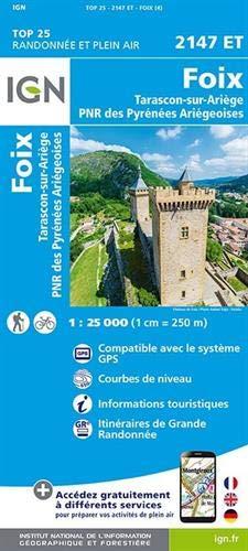 Foix.Tarascon-sur-Ariège.PNR des Pyrénées Ariégeoises 1:25 000