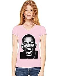 Will Smith Fresh Womens V-neck T-shirt