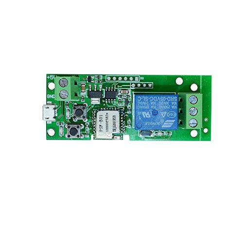 Preisvergleich Produktbild Festnight Sonoff Smart Schalter Wifi, USB DC5V Drahtloses Relaismodul APP-Fernbedienung Smart Home Zeitschalter für Zutrittskontrollsystem Inching/Selbsthemmung