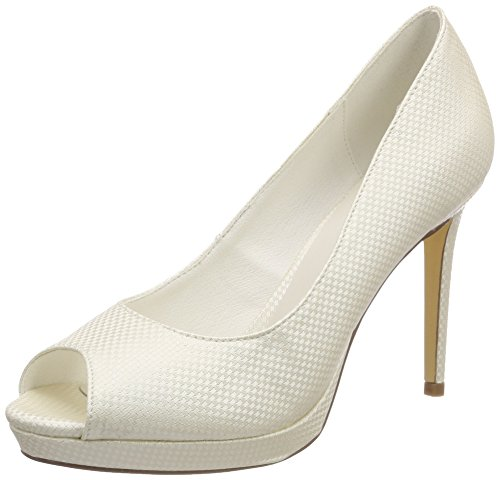 Menbur Wedding Dana, Zapatos de Boda para Mujer, Marfil (Ivory 04), 39 EU