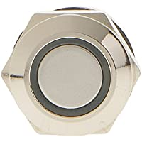 IPOTCH 1 Pieza de Interruptor Momentáneo de 12V con LED Luz de 12mm Impermeable Compatible con Automóvil