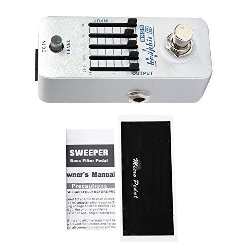 Fafeims Bass Equalizer Bass EQ Pedal Gitarrenpedale Bass Balance Metal Shell Grafik B Bass EQ Effektpedal ± 18dB Einstellbarer Gitarren-Equalizer von RiToEasysports