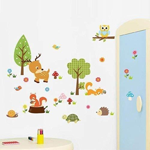 Xiton Habitación Dormitorio Fondo Etiqueta de la Pared Bosque Animales Buho Infantil