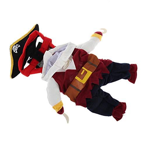 Für Kostüm Pommern Hunde - Domire Lustige Halloween-Piraten-Kostüm Cute Pet Kostüm Schicke Karibische Art Kostüm-Klage Mit Hut Für Halloween Cosplay