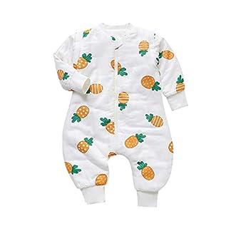 Saco de dormir Jumper para bebé, con piernas, mangas extraíbles, para invierno, de algodón grueso, para bebé, de manga larga, para invierno, 2,5 tog. PinkLion Talla:80cm/Baby Höhe 65-85cm