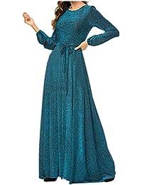 887e2dea9cb8 zhxinashu Donne Oversized Cocktail Maxi Dress - Signora Musulmano Lungo  Abaya Kaftan Dubai Robe Gown Elegante Abito da Sera con…