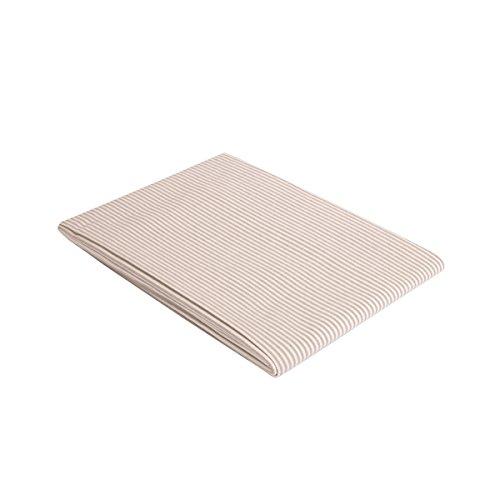 """Vaitkute 210029 Halbleinen Tischdecke """"Streifen"""" 140 x 140 cm, mit Briefecken, 50% Leinen und Baumwolle, 60 Celsius waschbar, 210 g / m2, weiß / grau gestreift"""