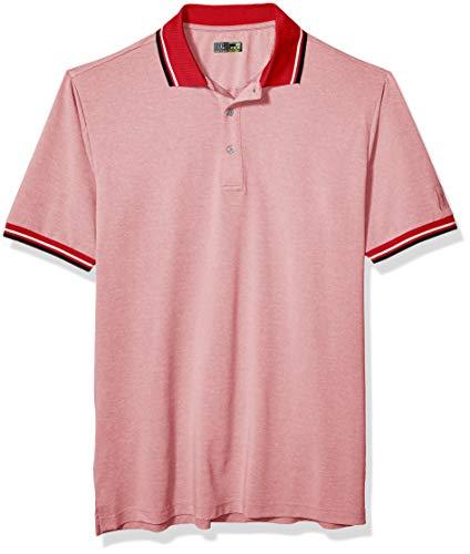PGA TOUR Herren Oxford Short Sleeve Polo Golf-T-Shirt, Goji Berry, XXX-Large Hoch