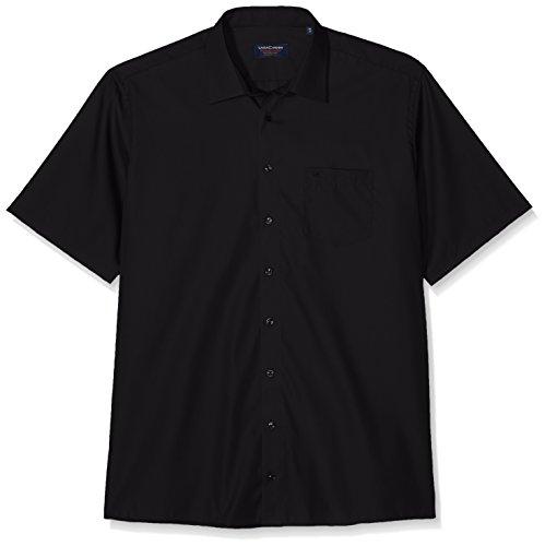 CASAMODA Herren Comfort Fit Businesshemd 8070, Schwarz (Schwarz 80)