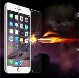Film vitre de protection écran iPhone 6/6S ( 4,7 pouces) en verre trempé haute transparence et ultra résistant (incassable, inrayable 9H) et Ultra Slim (0,26mm) avec bords arrondis, pour une protection optimal de votre téléphone iphone 6/6S (4.7')