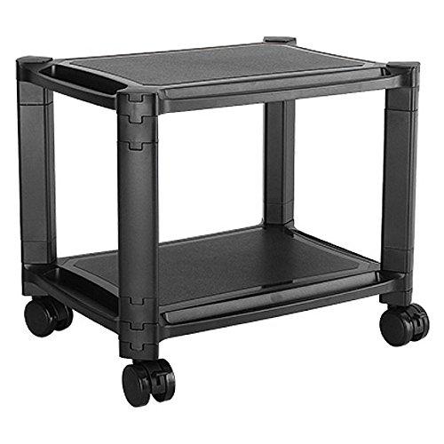 Mobiletto Carrello tavolino Supporto Multifunzione Porta Stampante, Monitor, TV, pc, con 2 Ripiani