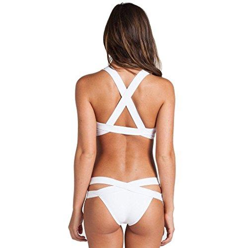 Buluke Frauen Neckholder Bikini White