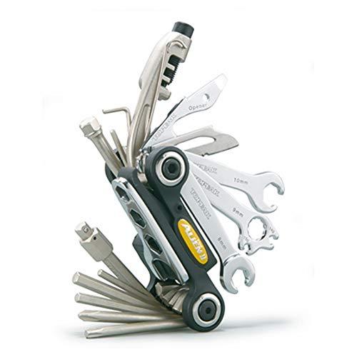TOPEAK Alien 2 Multi Tool Werkzeug Faltwerkzeug Klapp Fahrrad Innensechskant 26 Fkt. + Tasche, 15400117