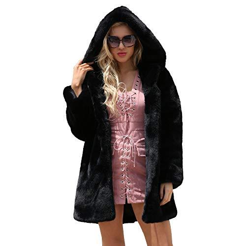 NPRADLA Capispalla Invernale Camicette Maglietta Manica Lunga Donna Elegante Camicia con Cappuccio in Pelliccia Sintetica Calda con Cappuccio 2019