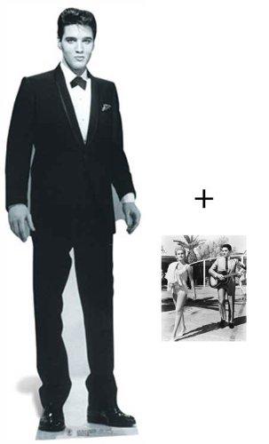 Fanbündel - Elvis Presley wearing Tuxedo Lebensgrosse Pappfiguren / Stehplatzinhaber / Aufsteller - Enthält 8X10 (25X20Cm) starfoto -