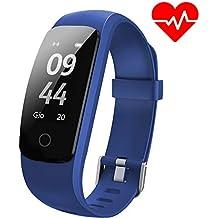 Pulsera de Actividad Aneken Pulsera Inteligente con Pulsómetro Pulsera deportiva y Monitor de Ritmo Cardíaco Impermeable