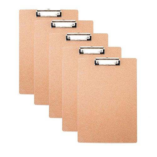 Fanaticism 6 Stück Klemmbrett aus Holz, Schreiben Board A4
