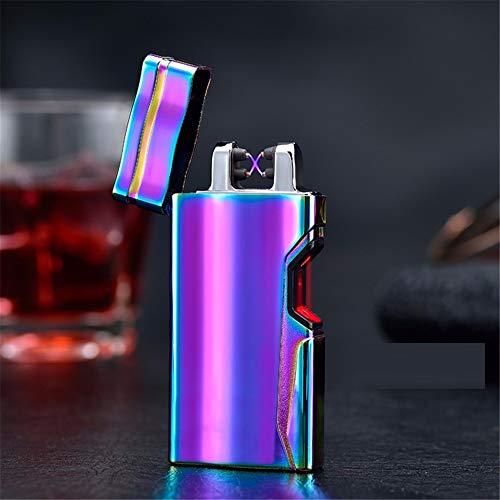 XXSZKAA Infrarot-Induktion Doppel-Lichtbogen-Feuerzeug/Laser-Sensor USB-Ladegerät Umweltschutz Zigarette/Freund Geschenk, A1