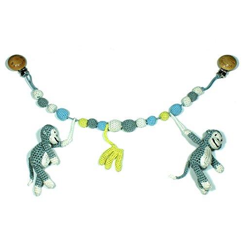 Preisvergleich Produktbild sindibaba sindibaba1223850cm Crochet Kinderwagen Kette mit Monkey Charlie