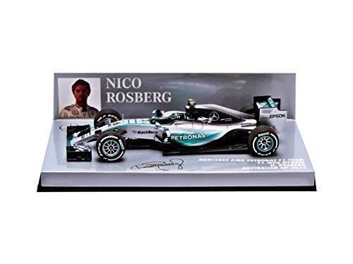 Minichamps 1:43 Escala 2015 Mercedes AMG Petronas 'F1 W06 híbrido Nico Rosberg GP de Australia Coche (plata)